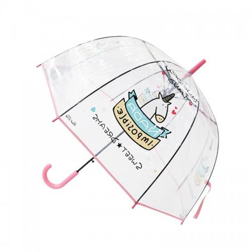Kids Umbrella Unicorn Transparent Umbrellas Children Laser Umbrella Cute Cartoon Alpaca Girl Umbrellas Sakura
