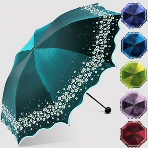 Paradise Full blackout color flash umbrellaUmbrella Rain Women Fashion Arched Princess Umbrellas Female Parasol Creative