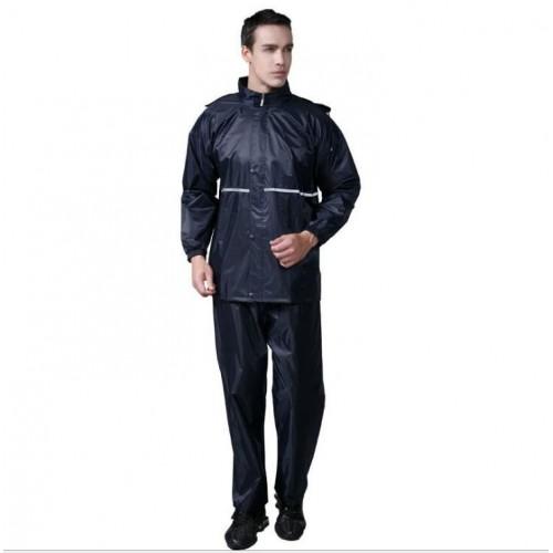 Outdoor Waterproof Motorcycle Rainwear Travel Raincoat With Pants For Men
