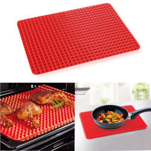 2016 Hot Sale Red Bakeware Pan Nonstick Silicone Baking Mat Pads Easy Method for Oven Baking