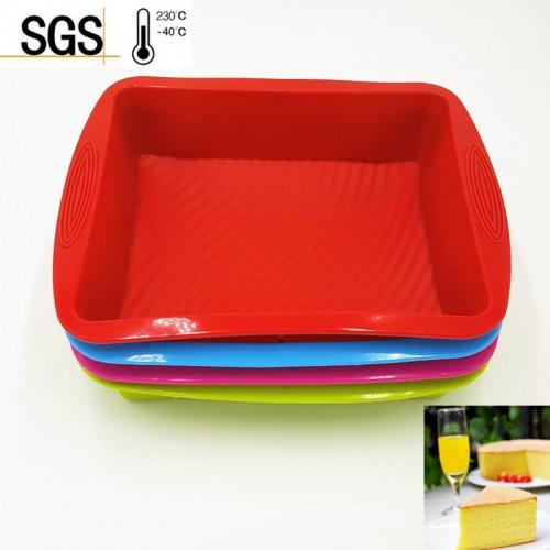 29 23 6CM 260G 2016 Hot Sale Big and Beautiful Square Quadrate Shape Silicone Cake Mold