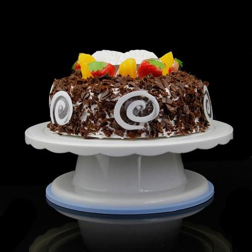 Cake Swivel Plate Revolving Decoration Stand Platform Turntable 28cm Round Rotating Cake Swivel Christmas Baking Tool