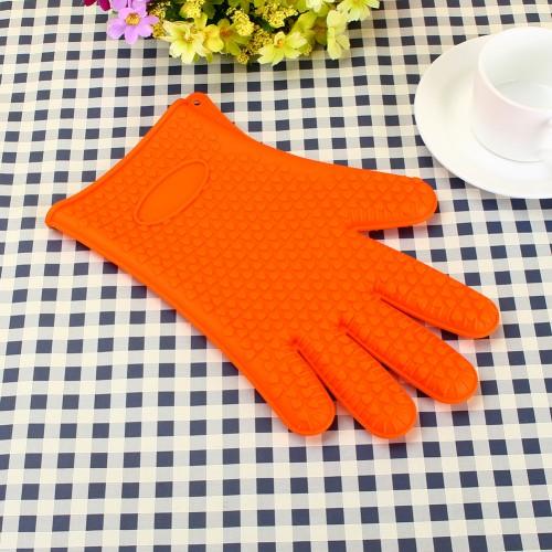 Heat Resistant Silicone Glove Cooking Baking BBQ Oven Pot Holder Mitt Kitchen Accessories