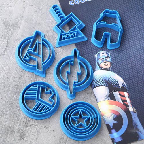 Hot style Super hero series The avengers alliance sugar 6 PCS set cookie cutter mold