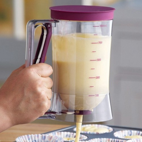 New Cupcakes Pancakes Cookie Cake Muffins Baking Waffles Batter Dispenser Cream Speratator Measuring Cup baking tools