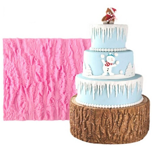 Tree Bark Line Texture Silicone Mould Fondant Cake Mold DIY Baking Tools Cookies Pastry Chocolate Decoration