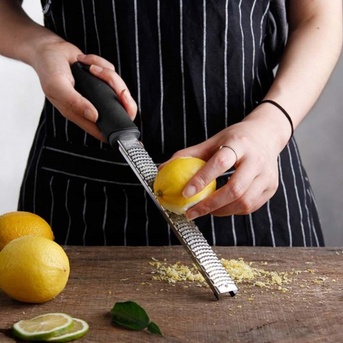 12 Inch Rectangle Stainless Steel Cheese Grater Tools Chocolate Lemon Zester Fruit Peeler Kitchen Gadgets 8