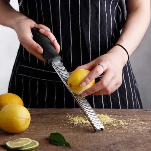 Rectangle Stainless Steel Cheese Grater 12 Inch Tools Chocolate Lemon Zester Fruit Peeler Kitchen Gadgets