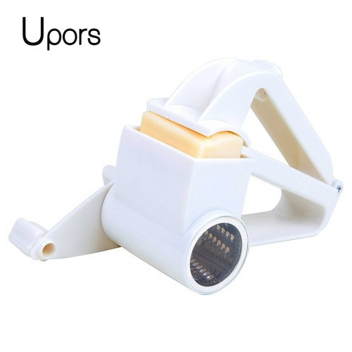 Upors Plastic Hand Cranked Cheese Grater Rotary Ginger Slicer Grater Cutter for Chocolate with Stainless Steel