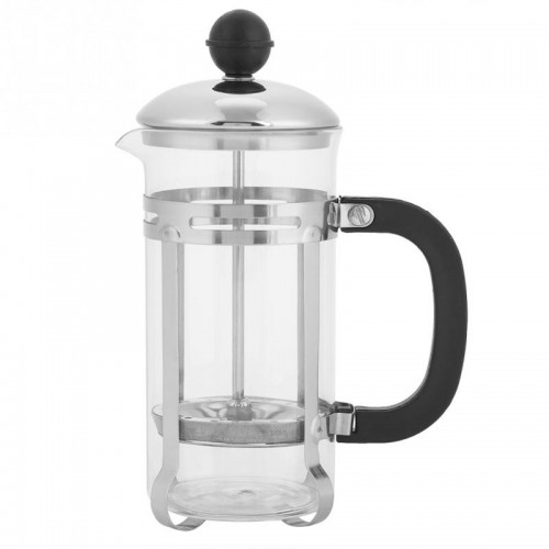 350ml Stainless Steel Glass Hollow Cafetiere French Filter Coffee Pot Coffee Tea Pot Press Plunger