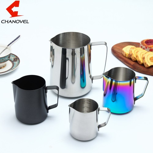 CHANOVEL 304 Stainless Steel Espresso Coffee Pitcher Craft Latte Milk Frothing Jug MilkPitcher