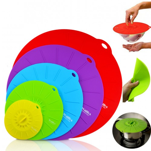 Silicone Cooking Food Storage Suction Lid Microwave food cover frying pan lids Bowl Cover silicone pot