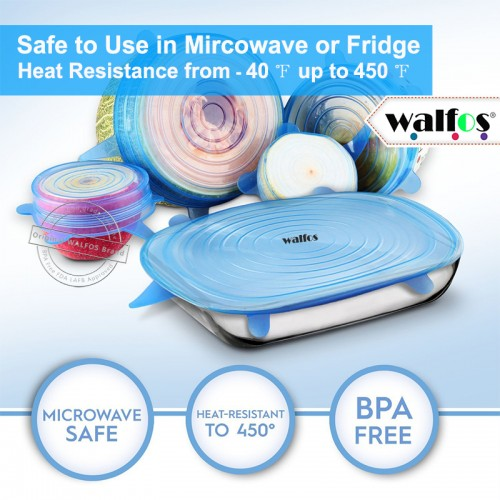 new 6 pieces Multifunctional Food Fresh Keeping Saran Wrap Kitchen Tools Reusable Silicone Food Wraps Seal