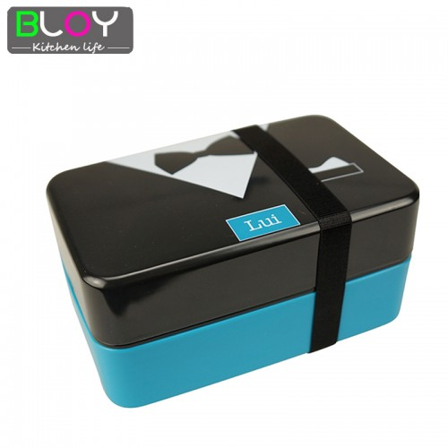 Japanese Style 2 Layer Meal Box Belt Bento Meal box sushi box lunchbox food container for