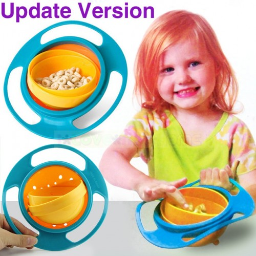 Sale Baby Kid Boy Girl Gyro Feeding Toy Bowl Dishes Non Spill Universal 360 Rotate Technology.jpg 640x640