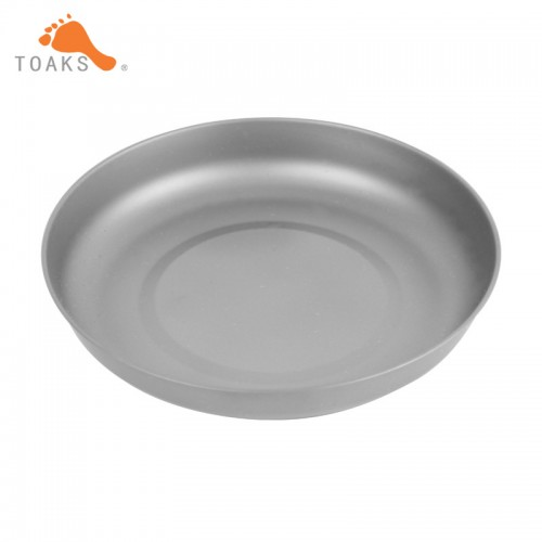 TOAKS Household Dish Ultralight Outdoor Tableware Camping Titanium Plate T 18 Picnic Plate
