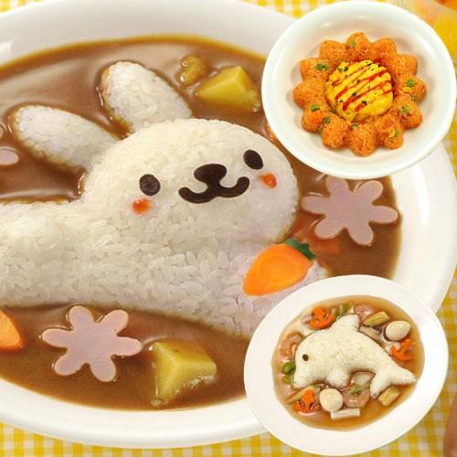 vanzlife creative cute rabbit dolphins seaweed rice bag DIY vegetarian die bento four units