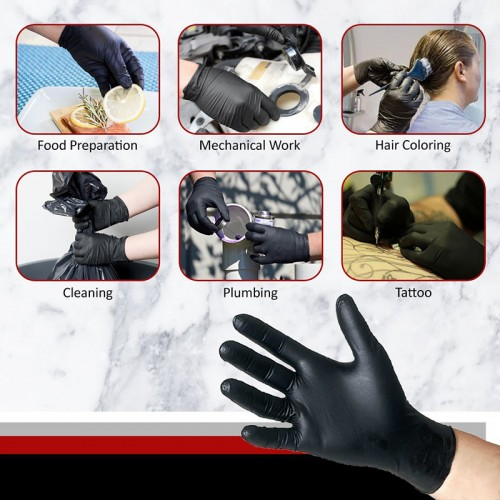 100pcs Disposable Nitrile Rubber Latex Gloves Home Kitchen Food Laboratory Medical garden gloves