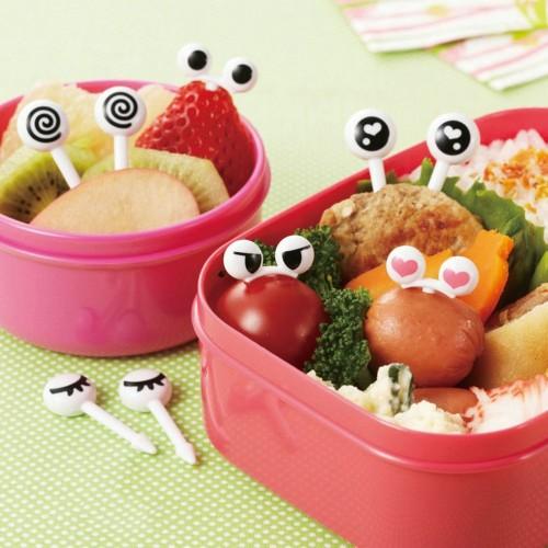 50 Pcs Assorted Fruit Forks Reusable Cartoon Eyes Mini Cute Picks Fork for Bento Sandwich Appetizer