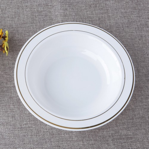 6 set of aluminum disposable plate round plastic tray white round deep tray fruit plate salad