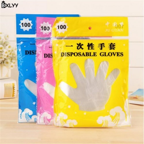 BXLYY 100pc Kitchen Accessories PE Disposable Gloves Hygiene Gloves Baking Tools Cooking Party Supplies Disposable