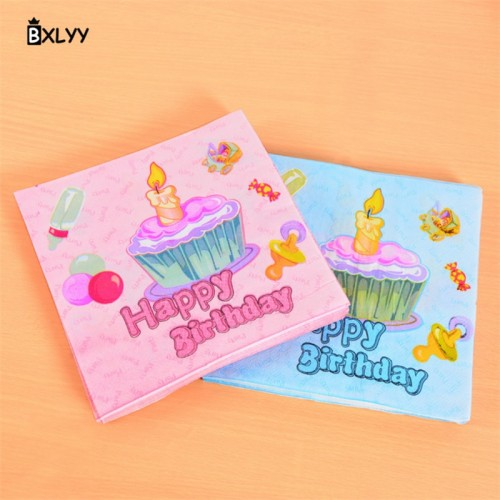 BXLYY Party Decoration Disposable Paper Towel Children Birthday Party Supplies Baby Bathing Christmas Unicorn Christmas 1