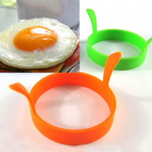 1 Pc Random Color DIY Round Breakfast Silicone Egg Molds Pancake Cooking Tools Kitchen Accessories