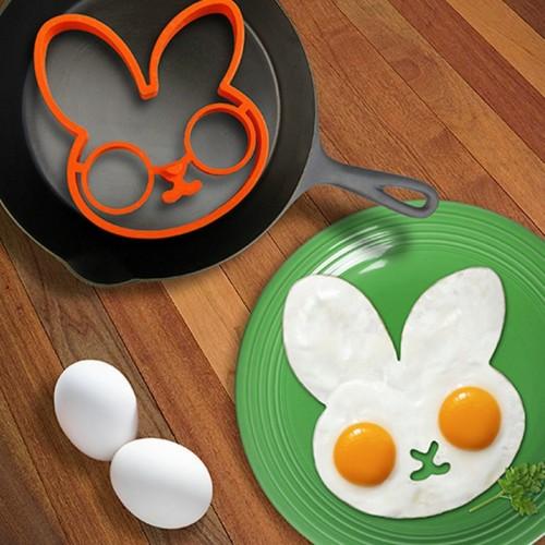 1PCS Orange Silicone Bunny Cartoon Fry Egg Frame Egg Mold Pancake Egg Rings Shaper Egg Omelette
