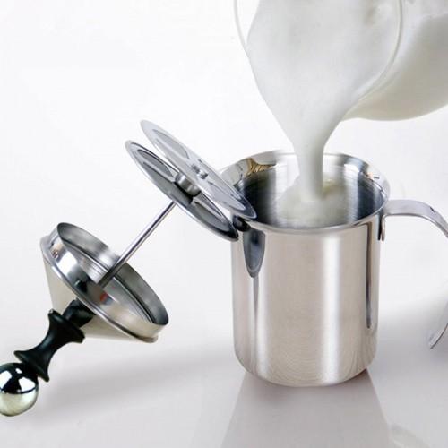 800 400ML Stainless Steel Milk Frother Pump Coffee Mixer Milk Foamer Cappuccino Latte Double Mesh Delicate