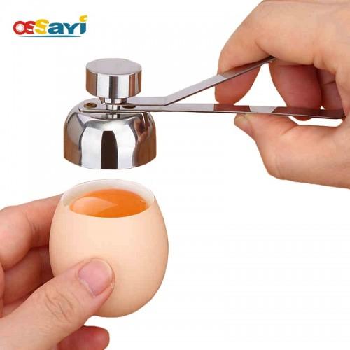 Ossayi Metal Egg Scissors Egg Topper Cutter Shell Opener Stainless Steel Boiled Raw Egg Open Creative