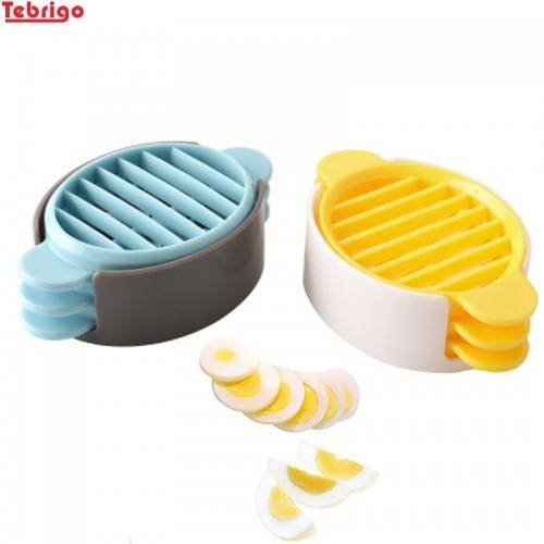 Tebrigo Egg Slicers 3 in 1 Egg Cutter Eggs Splitter Dividers Preserved Eggs Tool Kitchen Gadget