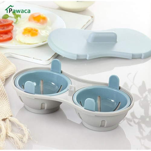 Two Egg Poacher Sandwich Breakfast Food Grade Plastic Material Egg Tools Put Microwave Oven Kitchen Cooking