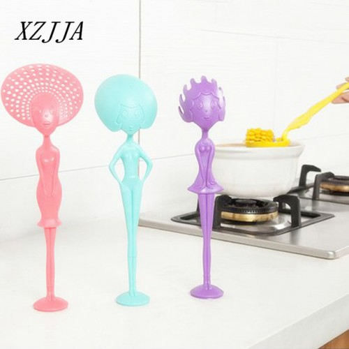 High Quality Novelty Soup Spoon Long Handle Can Stand Face Humanoid Kitchen Spoon Colander Cooking Tools.jpg 640x640