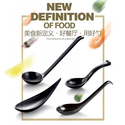 Kinglang Black Spoon Creative scoop Japanese ladle Scoop hotel Hotel spoon plastic soup spoon