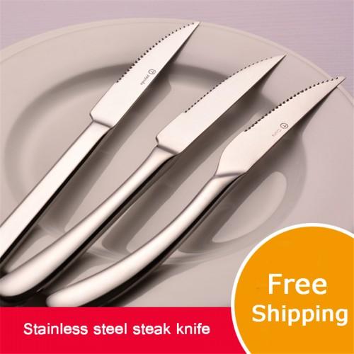 Steak Knife Stainless Steel Festa Fazenda Luxury Dinnerware Silver Table Steak Knives Weastern Tools QQA238