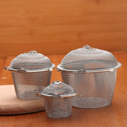 1PC Stainless Steel Soup Taste Spice Box Basket Brine Pot Slag Separation Colander Strainers Cooking