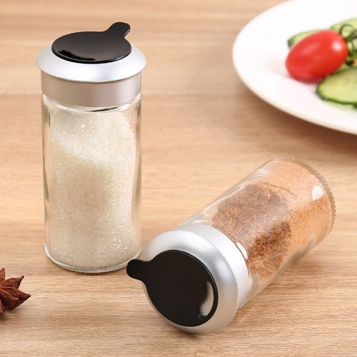 1Pc Kitchen Glass Cruet Condiment Bottles Seasoning Cans Pepper Shakers Salt Shaker Spice Container Barbecue Spice