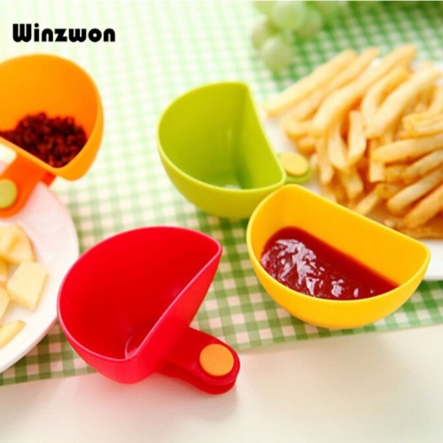 1Pcs Dip Clips Kitchen Bowl kit Tool Dish Spice Clip For Tomato Sauce Salt Vinegar Sugar