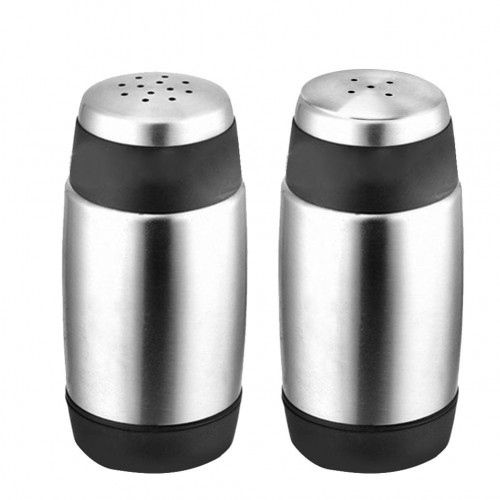 2Pcs Set 5 Holes 12 Holes Stainless Steel Cruet Condiment Spice Jars Set Salt and Pepper