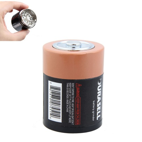 Creative Battery Shaped Herbal Herb Tobacco Grinder Spice Pollen Crusher HG99