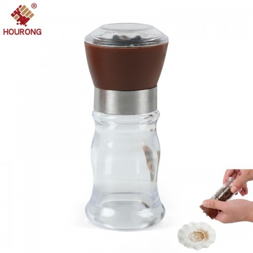 Hourong Salt Pepper Mill Grinder Pepper Grinders Shaker Spice Container Black Pepper Mill Kitchen Grinding Bottles