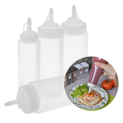 Kitchen Accessories Mustard Vinegar Salad Sauce Oil Dispenser Squeeze Bottle Ketchup Jar Kitchen Tool