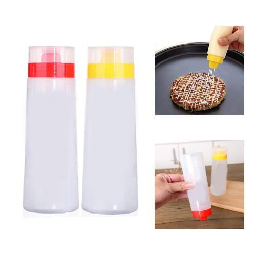 Silicone 4 Holes Squeeze Sauce Mayonnaise Bottle Cream Oil Jam Ketchup Cake Decoration Tools For Mayonnaise
