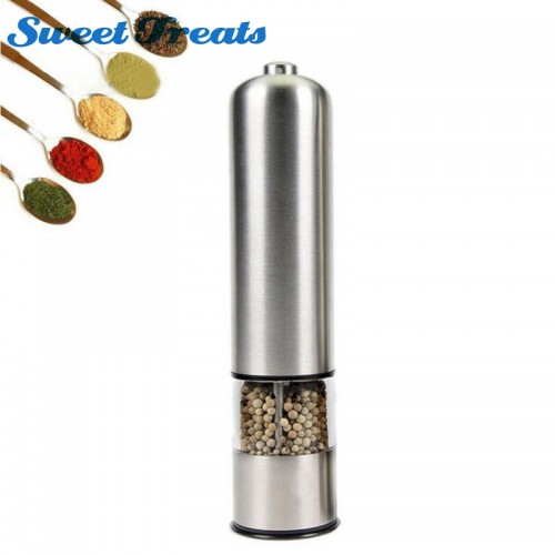 Sweettreats Stainless Steel Electric Salt Pepper Mill Spice Grinder Muller Kitchen Tool