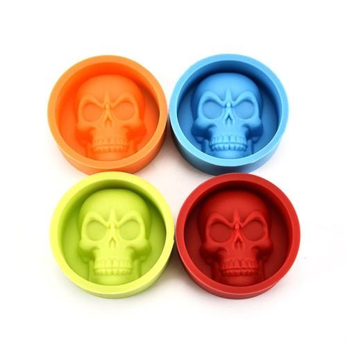 Silicone Skull Round Ball Ice Cube Mold Tray Desert Sphere Ice Mould silicone skull ice cube
