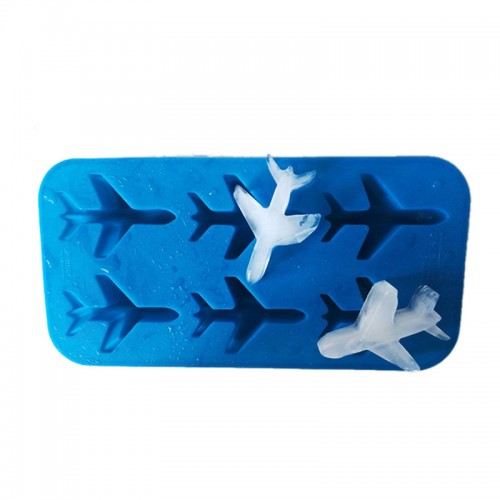 blue 3d jet plane silicone fondant chocolate mold ice cube molds for ice ball cream maker