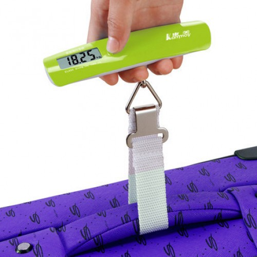Mini hand held electronic scale portable courier luggage spring balance LCD screen display humanized design