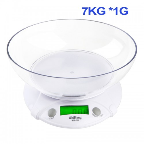 7KG 1G Multifunction Digital LCD Electronic Parcel Food Weight with Bowl Kitchen Scale Household Electronic Scales