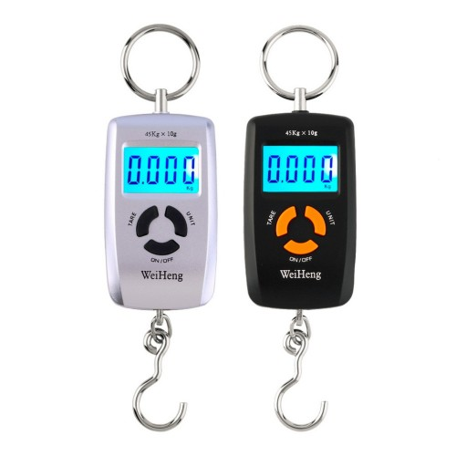 Mini LCD Portable Digital Electronic Scale 10 To 45kg 10g for Fishing Luggage WH A05L Hooking