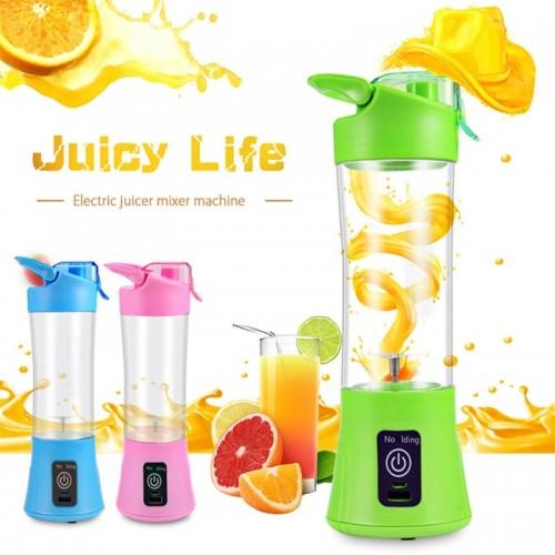 400ml Portable Blender Juicer Cup USB Rechargeable Electric Automatic Vegetable Fruit Citrus Orange Juice Maker Cup